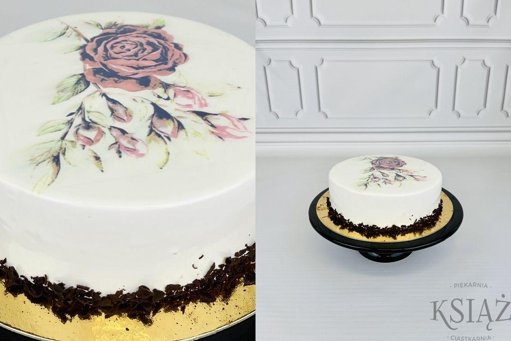 Tort róża P070