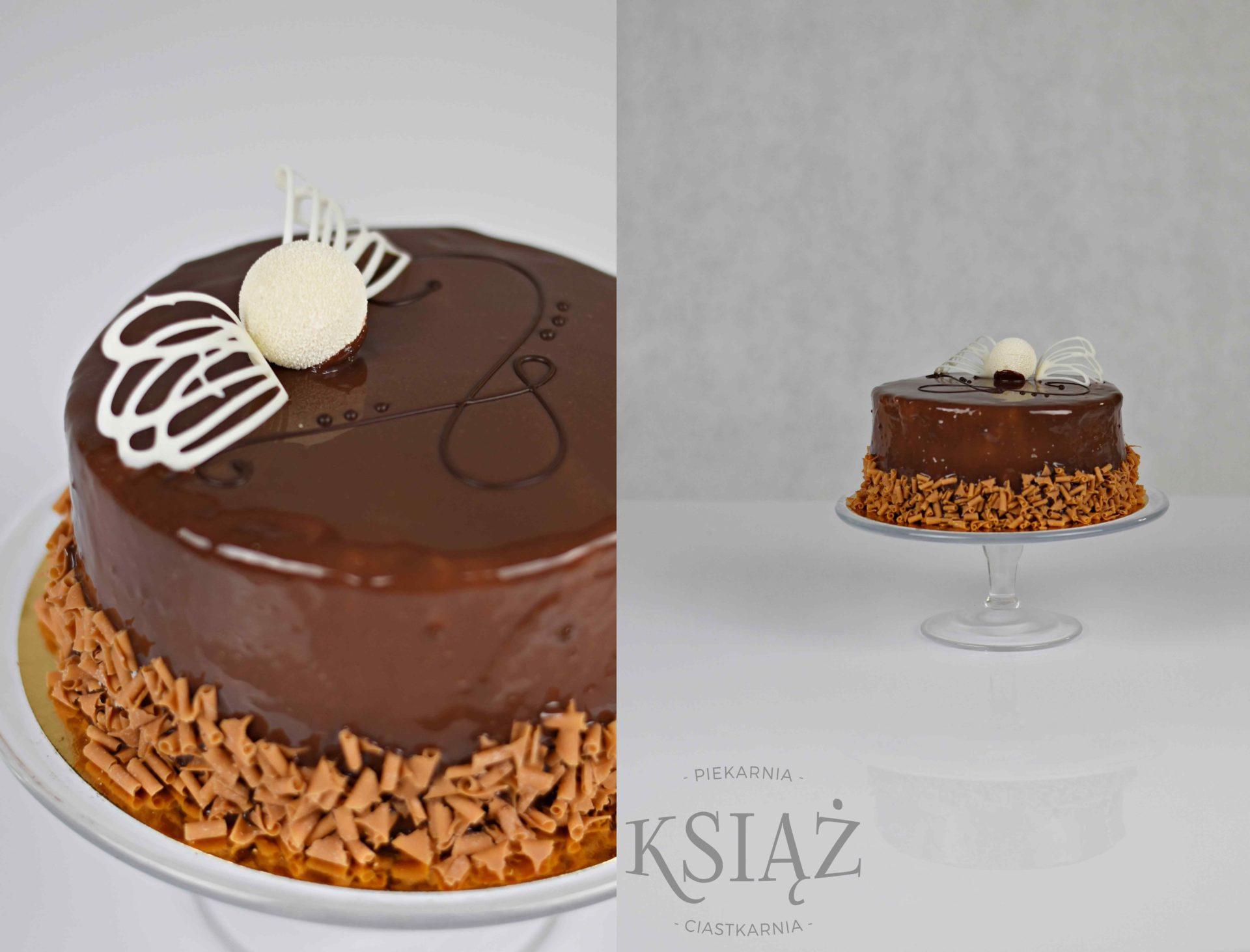 Tort brzdąc T013 - jasny biszkopt, przełożony śmietaną czekoladową
