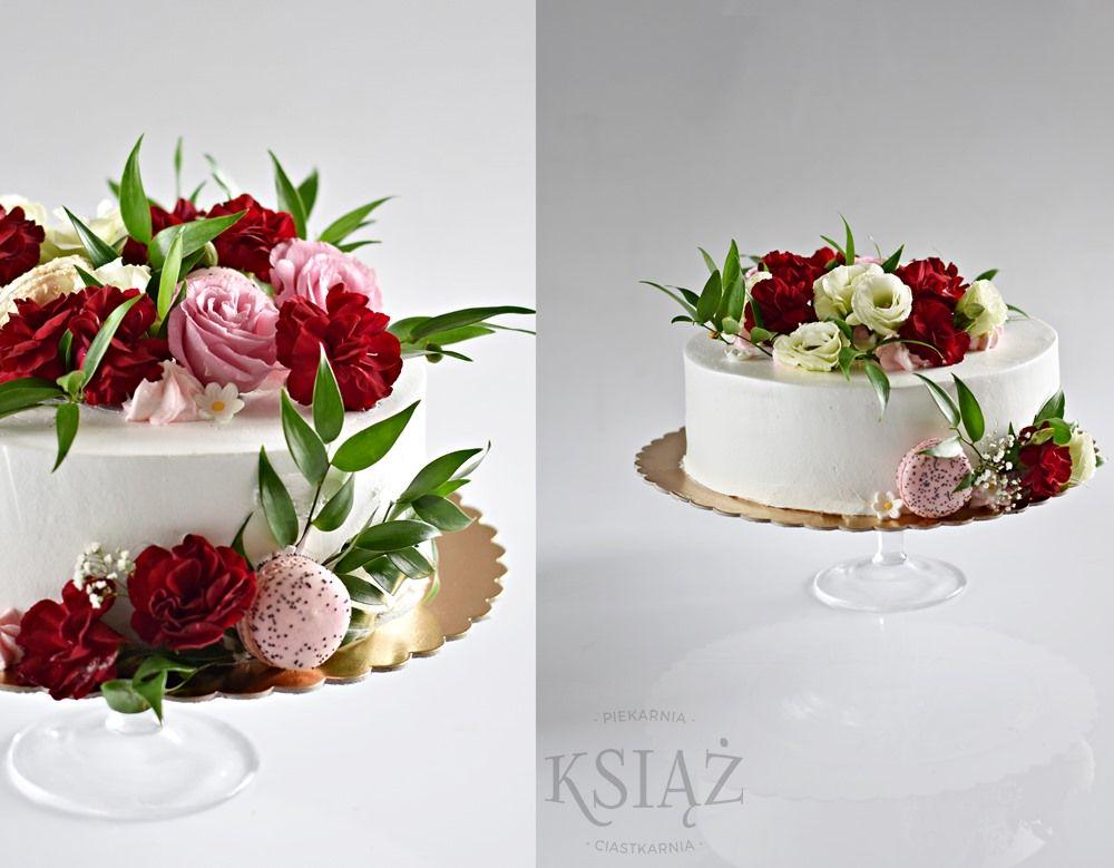 Tort z kwiatami S031