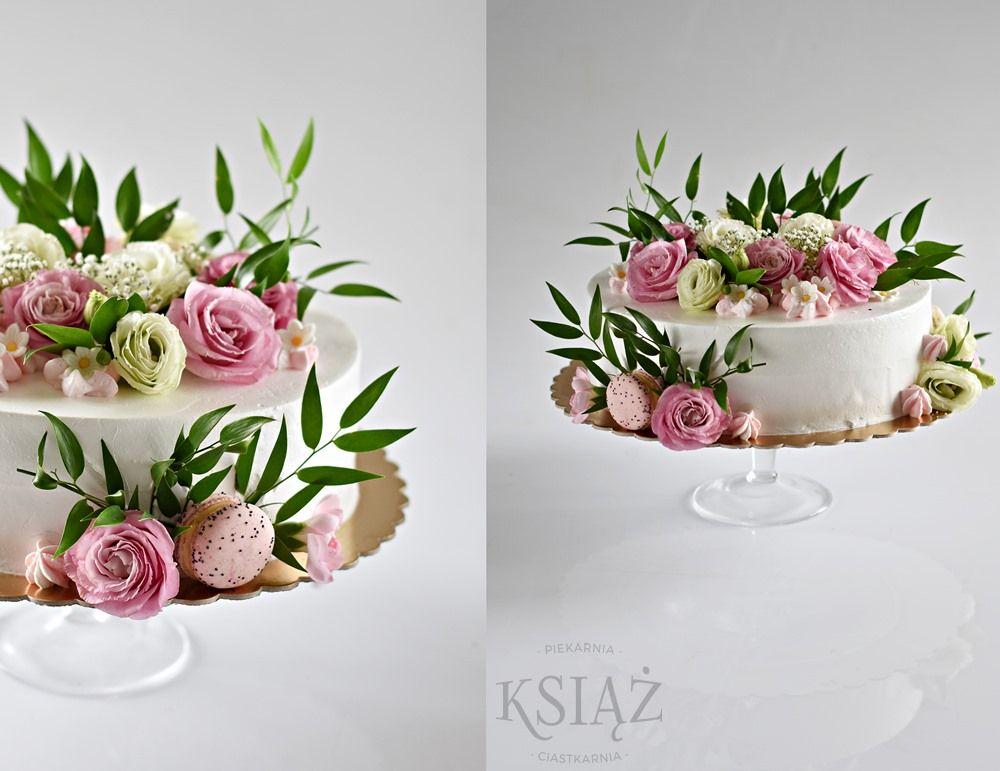 Tort z kwiatami S033